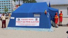 Punct de prim ajutor SMURD pe plajă. FOTO Adrian Boioglu