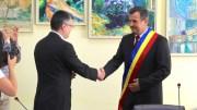 Valentin Vrabie a fost învestit în funcția de primar al municipiului Medgidia. FOTO Adrian Boioglu
