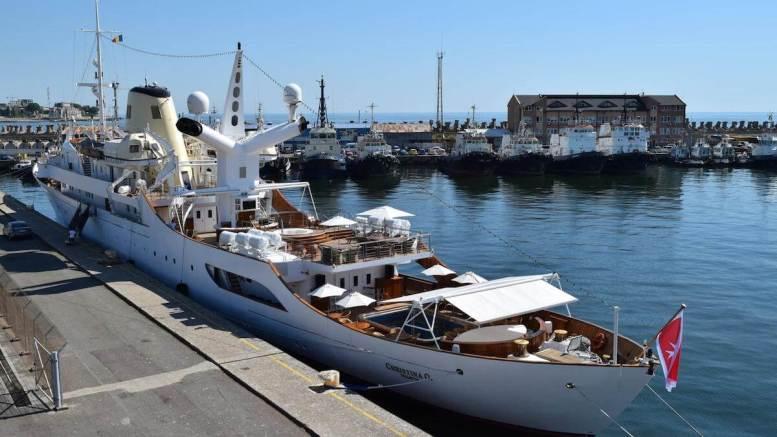 Yachtul Christina O, în portul Constanța. FOTO APMC