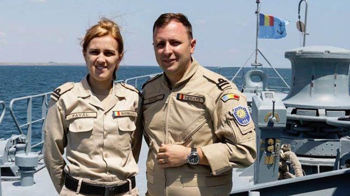 Nicoleta și Andrei Pavăl. FOTO Forțele Navale