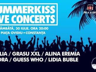 SummerKiss Live Concerts pe 30 iulie în Piața Ovidiu din Constanța