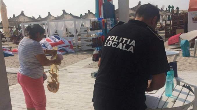Razie a Poliției Locale Constanța pe plaja din Mamaia