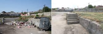 Curățenie lângă Școala 4 din Medgidia. FOTO Facebook