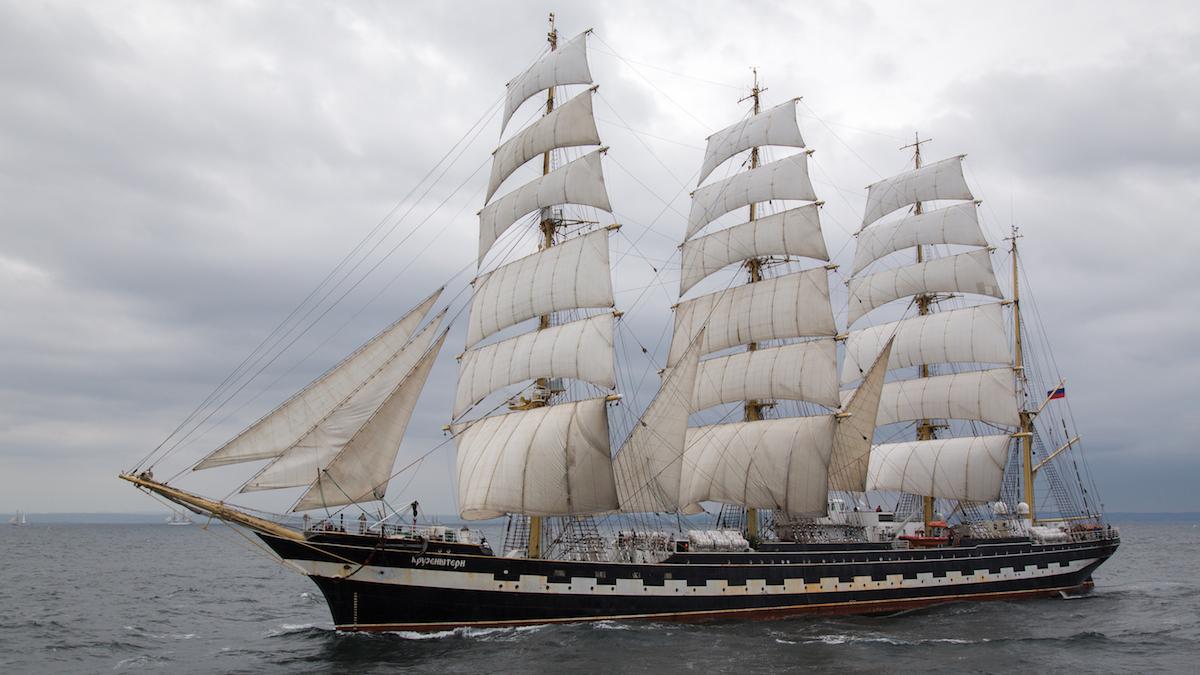 Nava Kruzenshtern vine la Regata Marilor Veliere. FOTO Sail Training International