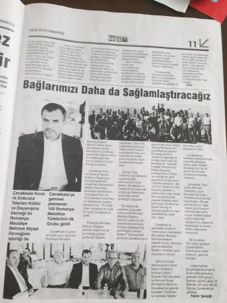 Valentin Vrabie în ziarele turcești. FOTO Adrian Boioglu
