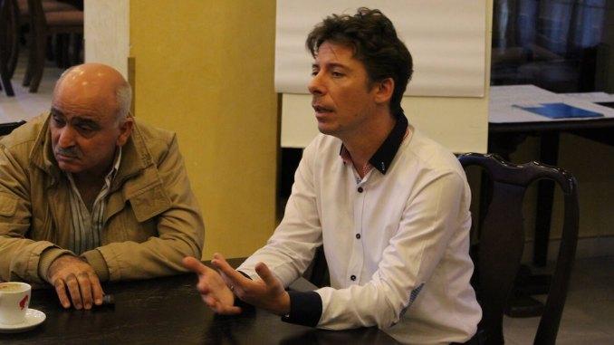 Cosmin Bârzan, coordonatorul cursului. FOTO Adrian Boioglu