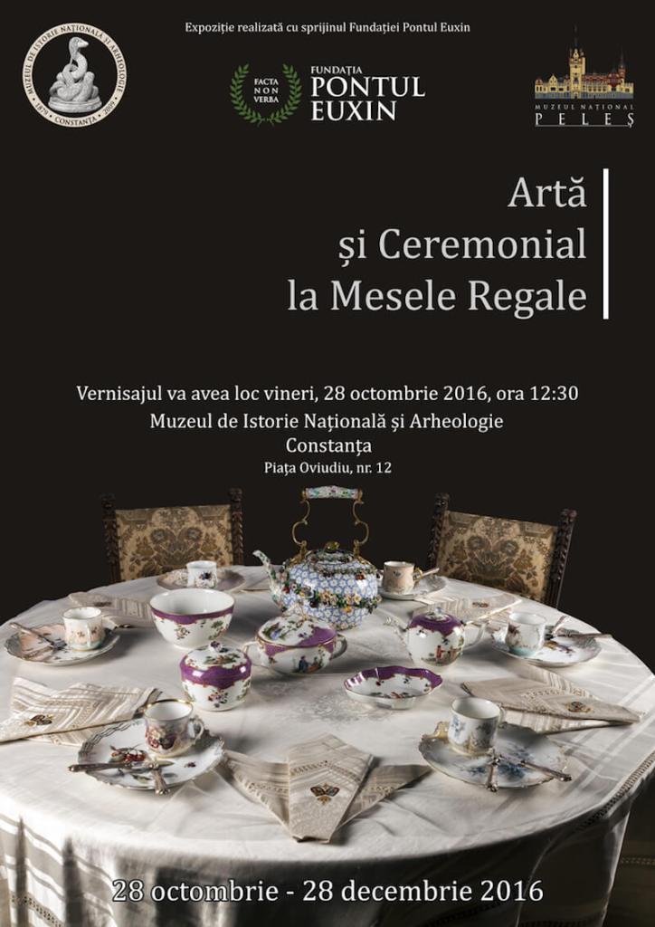 Afis Arta si ceremonial la mesele regale