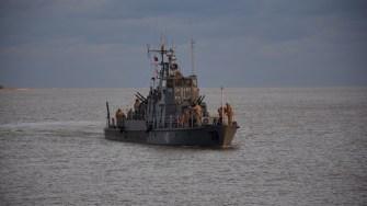 Exercițiu al Flotilei Fluviale pe Dunăre. FOTO MApN