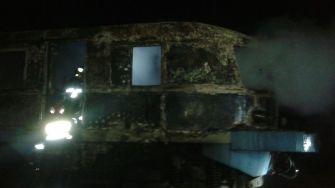 Incendiu la un tren în Mangalia
