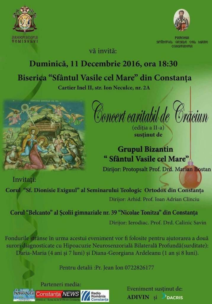 Afișul Concertului Caritabil de Crăciun