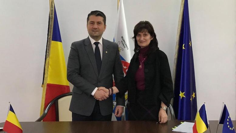 Decebal Făgădău și Venera Vlad de la BERD