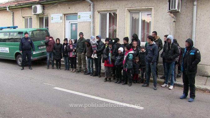 Migranți irakieni prinși la frontieră