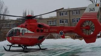 Pacient adus cu elicopterul SMURD la Spitalul de Urgență Constanța