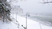 Faleza Cazinoului din Constanța pe timp de iarnă. FOTO Ovidiu Oprea