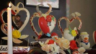 Inimioare de ciocolată de la Silvian. FOTO Adrian Boioglu