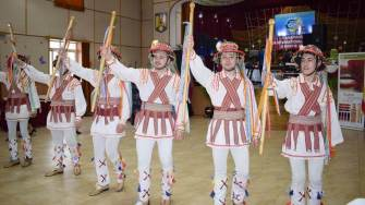 Călușarii de 8 Martie la Cumpăna. FOTO Facebook / Știri Cumpăna