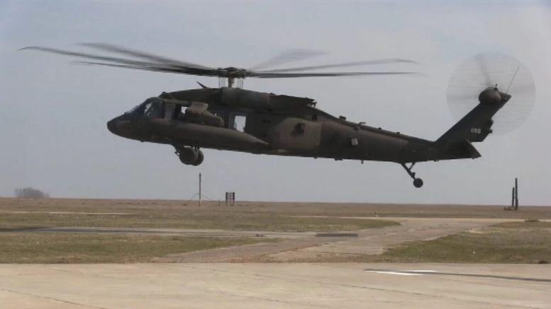Elicopter Black Hawk la Mihail Kogălniceanu