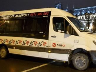 "Microbuz ""Direct Aeroport"". FOTO Daniel Năstase"