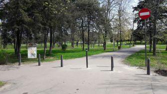 Mașinile, restricționate în Parcul Tăbăcărie. FOTO Primăria Constanța