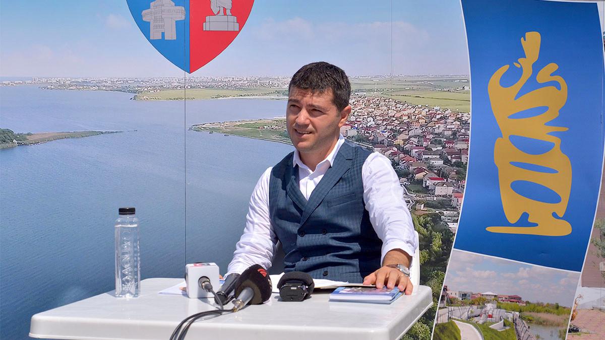 George Scupra, Primarul Oraşului Ovidiu