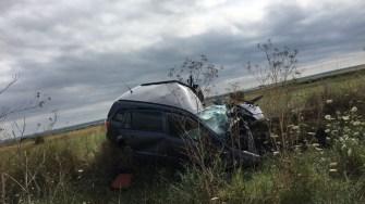 Mașina accidentată. FOTO ISU Dobrogea