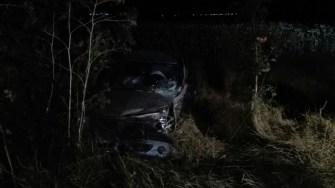 Masina cu cei doi s-a lovit de un pom