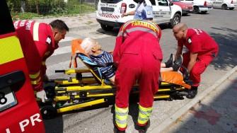 Bătrânul suspect a fost transportat și el la spital