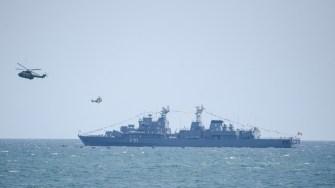 Fregata Mărășești - F-111 si doua elicoptere PUMA NAVAL la Ziua Marinei 2017. FOTO Cătălin Schipor