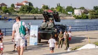 Tehnica militara a fost expusă pe faleza din Medgidia. FOTO Catalin Schipor