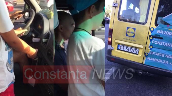 Maxi-taxi condus de un copil. FOTO Captură video