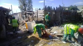 Alte tone de deșeuri au fost stranse din tabara de romi din zona strazii Muntii Tatra. FOTO Polaris M Holding
