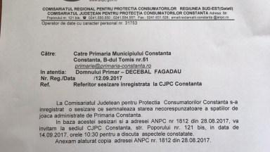 Adresa trimisa de OPC Constanta catre Primaria Constanta / Decebal Fagadau