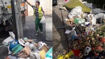 La intersecția străzilor Olteniei cu Grivitei gunoiul apare la nesfarsit