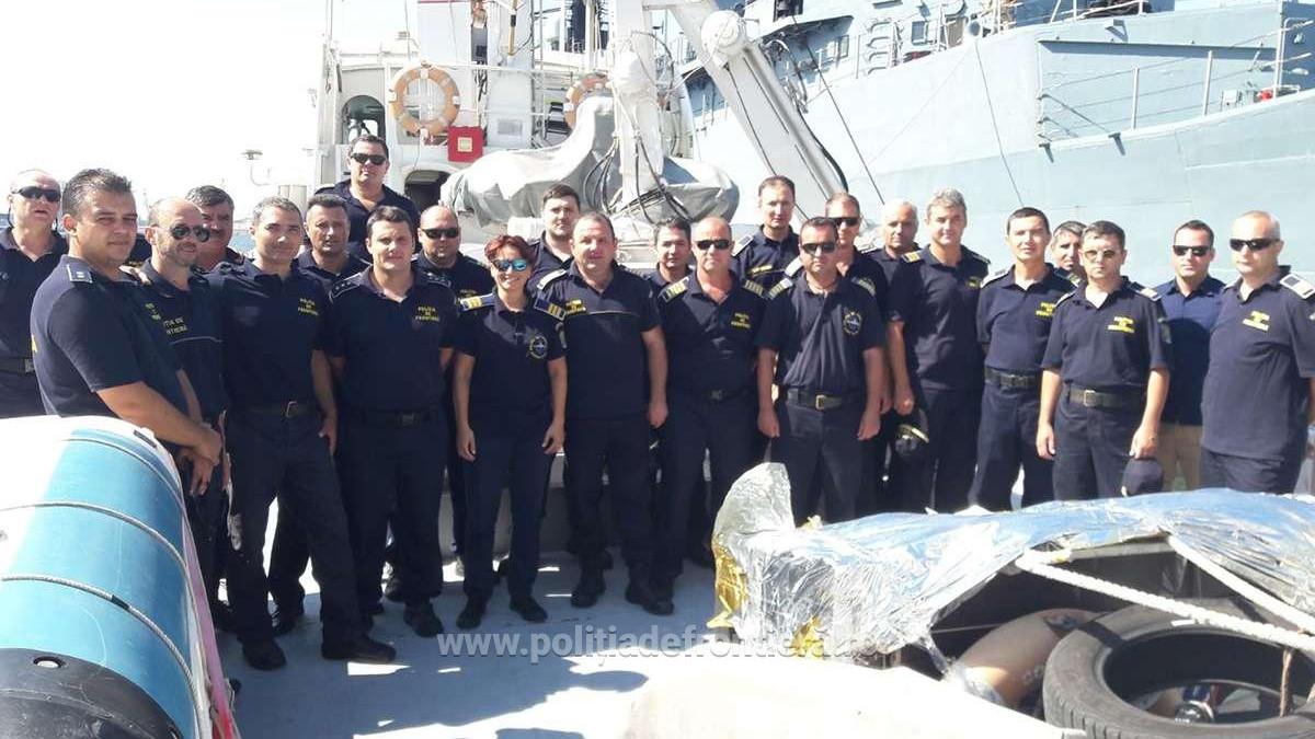 Nava MAI 1104 a Poliţiei de Frontieră Române a plecat in misiune in Marea Egee (5)
