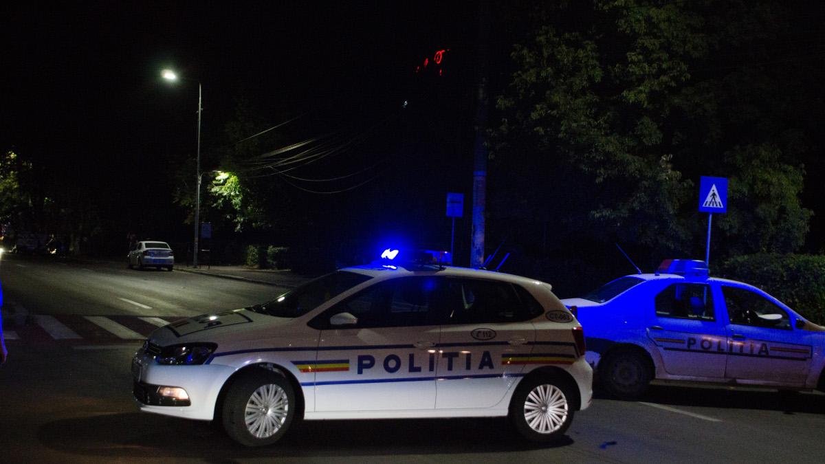 Trafic rutier blocat de masini politie (1)