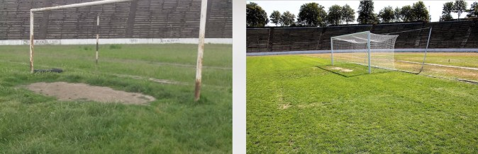 Stadionul Iftimie Ilisei din Medgidia, reabilitat de Primărie