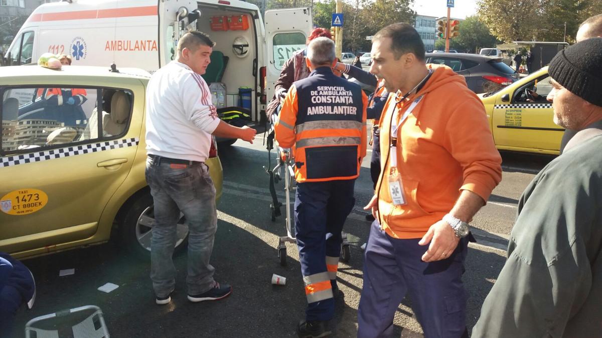 Accident ICIL ambulanta si taxi (3)