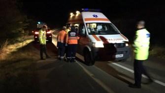 Victima a fost preluata de o ambulanta