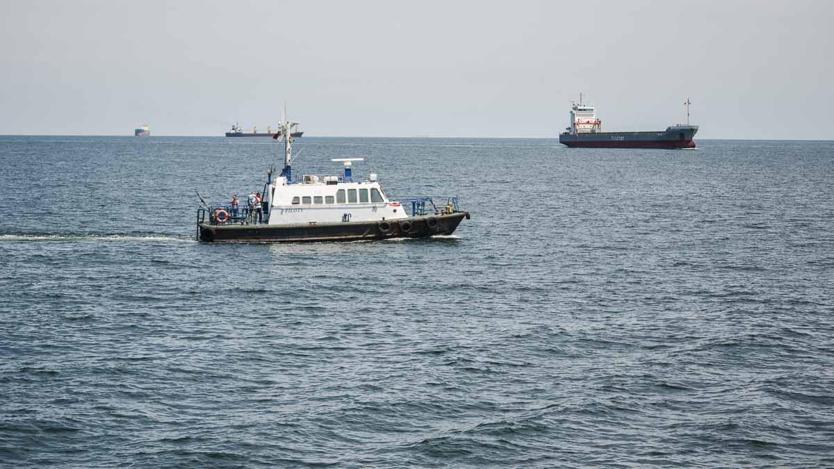 Nave comerciale in rada exterioara a Portului Constanta (1)