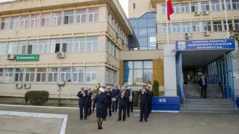 Invitații la festivitate au fost primiți în acordurile Fanfarei RAJA. FOTO Cătălin Schipor