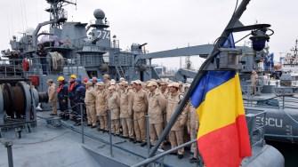 "Dragorul maritim ""lt. Lupu Dinescu"" s-a întors din misiune. FOTO navy.ro"