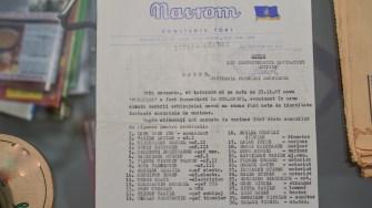 Lista cu membrii echipajului cargoului Fundulea. FOTO Cătălin Schipor