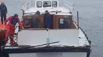 Nava cu migranți a acostat în Portul Constanța. FOTO Poliția de Frontieră