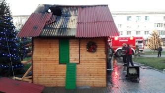 Căsuța lui Moș Crăciun de la Medgidia a luat foc