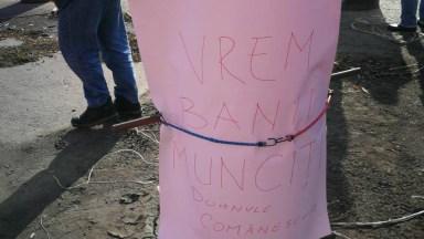 Angajații GSP au ieșit iar să protesteze. FOTO CTnews.ro
