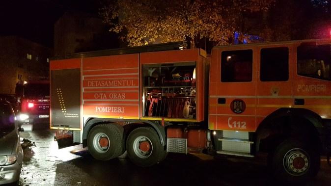 Pompierii costănțeni au intervenit pentru stingerea unui incendiu. FOTO ISU Dobrogea