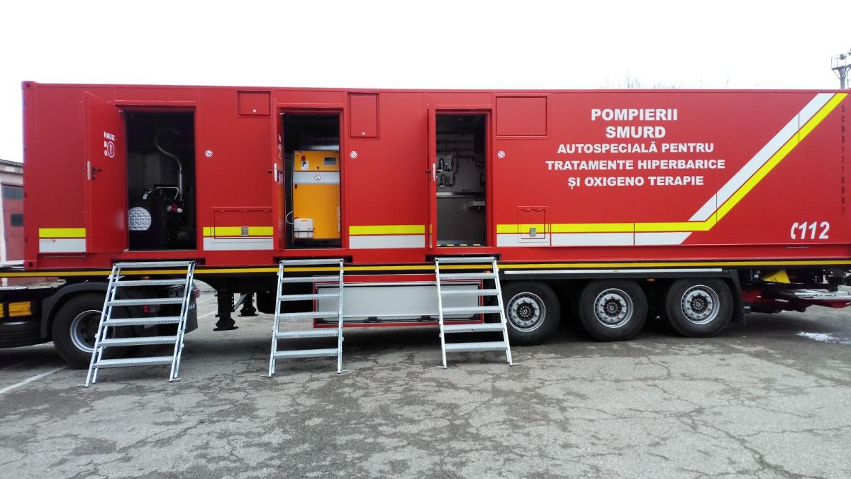 Scafandrii ISU Dobrogea și victimele incendiilor vor fi ajutați de noua autospecială a intrată în dotare. FOTO ISU Dobrogea