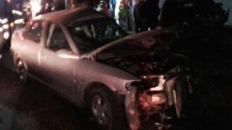 În urma impactului, mașina condusă de adolescent a ajuns un morman de fier vechi FOTO CTnews.ro