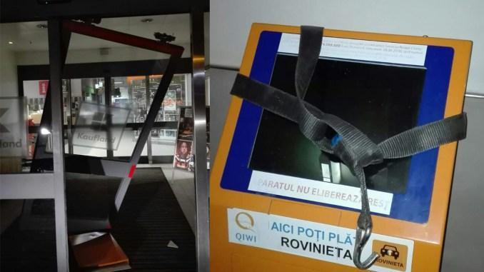 Tentativă de furt de bancomat la Kaufland Năvodari. FOTO Zip Escort