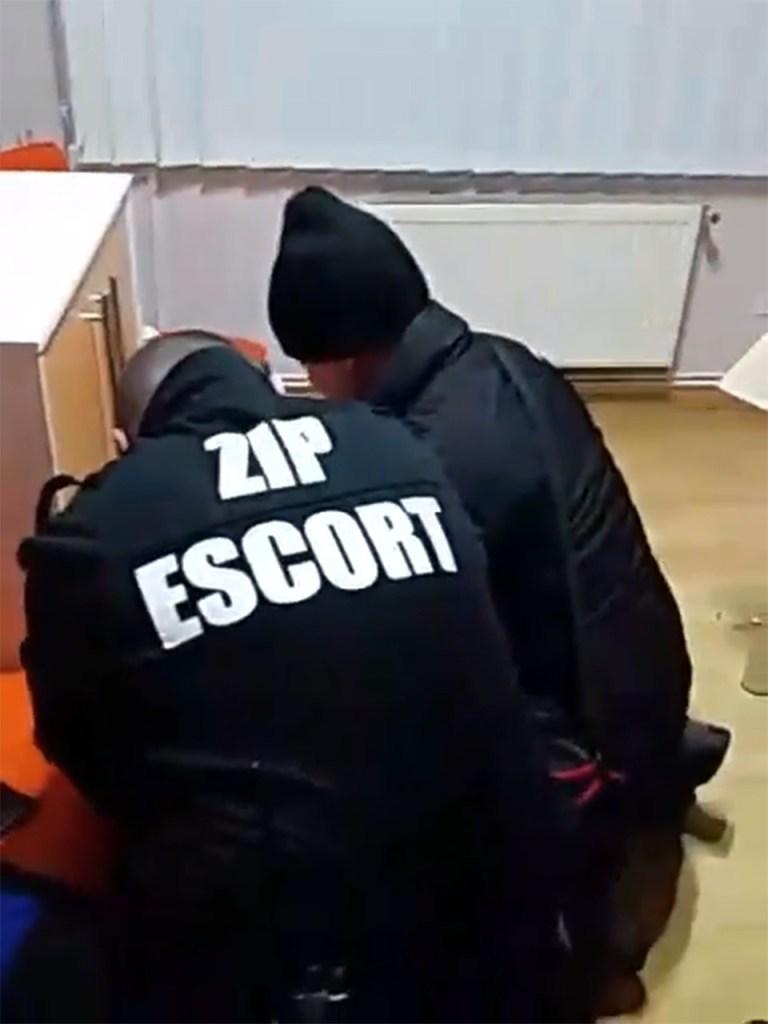 Echipa Zip Escort a imobilizat hoții. FOTO Captură Video